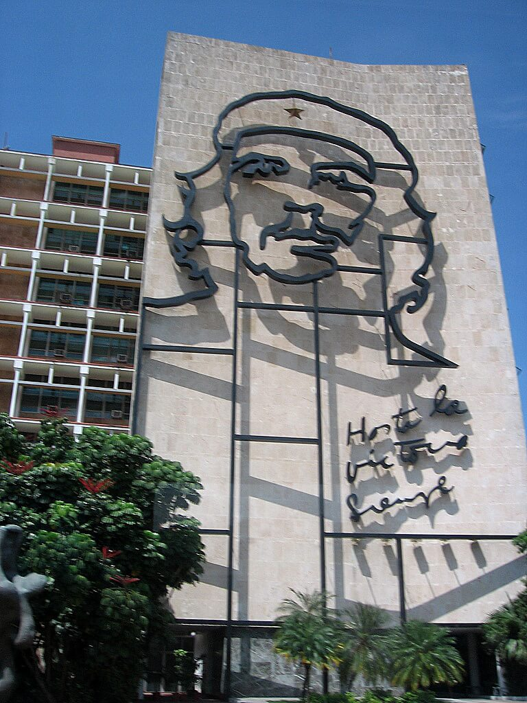 Che Guevara's bust on the building, Glimpses of The World