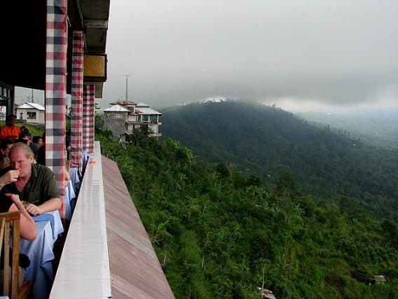 Travel-to-Bali-volcano-restaurant-terrace-Glimpses-of-The-World